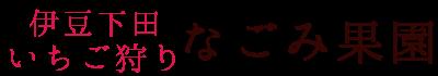 伊豆下田【いちご狩り】なごみ果園~グルメな自然観光スポット~