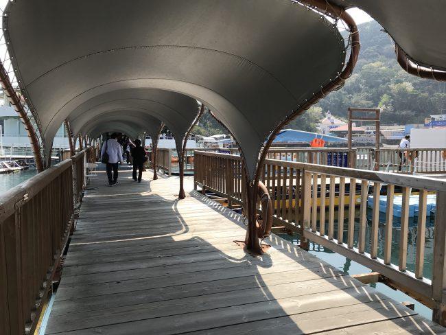 下田海中水族館桟橋
